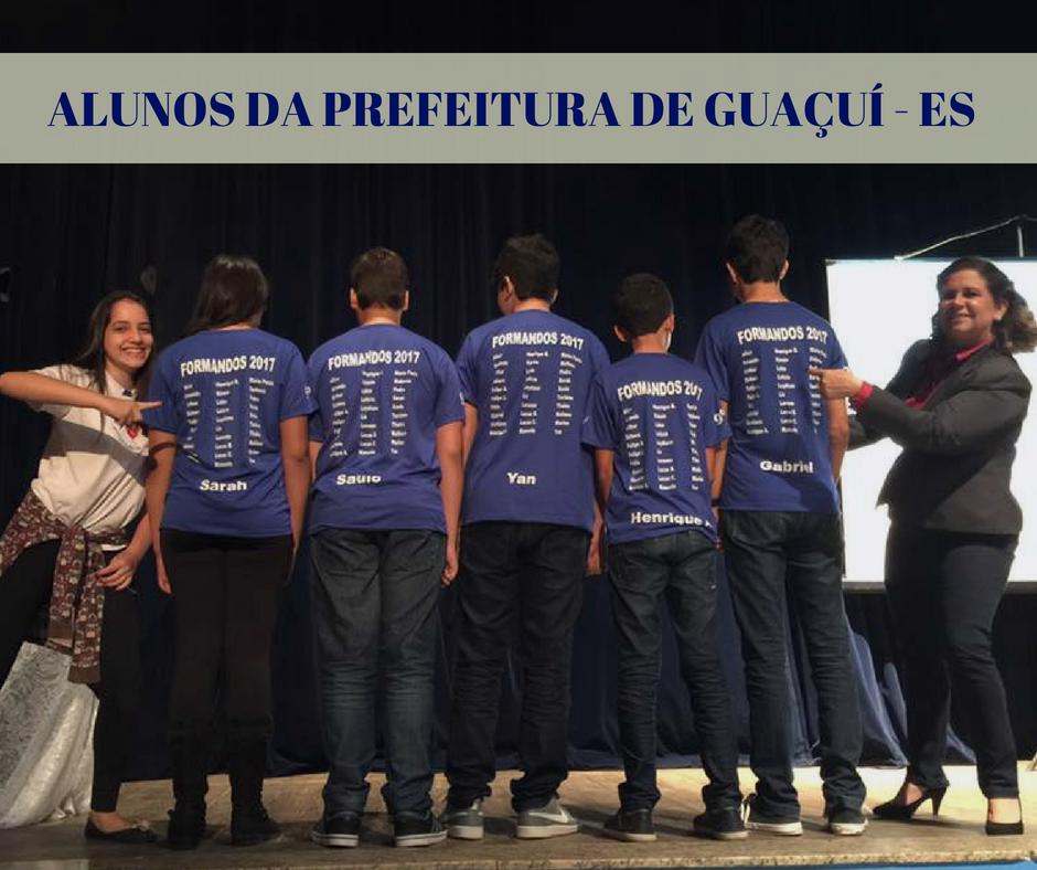 ALUNOS DA PREFEITURA DE GUAÇUÍ - ES (1)
